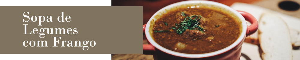sopa legumes e frango